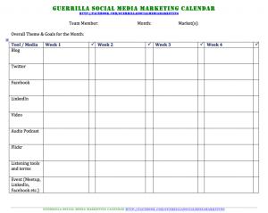 sales calendar template