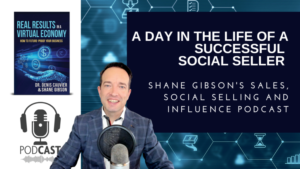 A day in the life of a successful social seller, daily disciplines and KPI's podcast art.