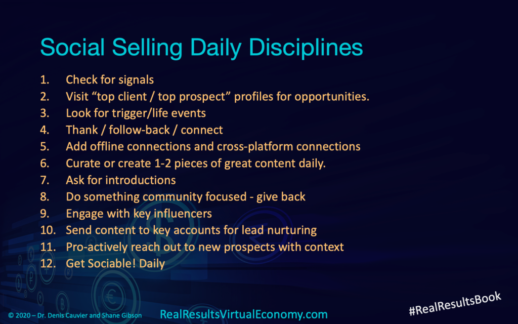 12 Social Selling disciplines and KPIs
